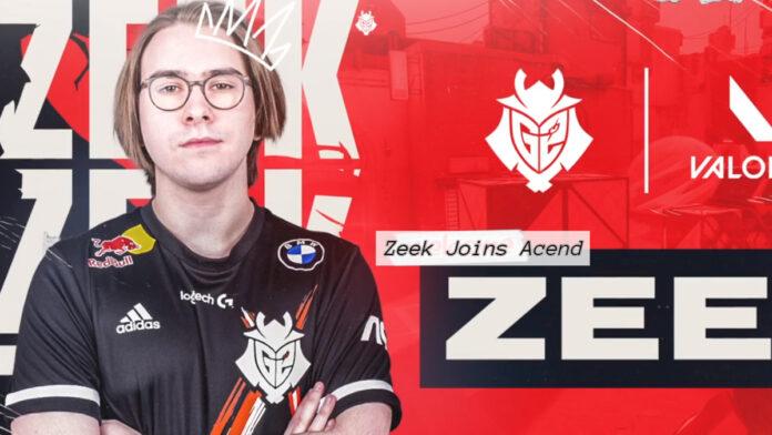 zeek joins acend valorant