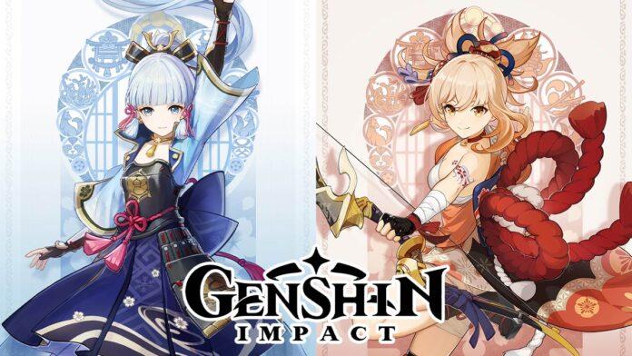 Genshin Impact Characters Ayaka and Yoimiya