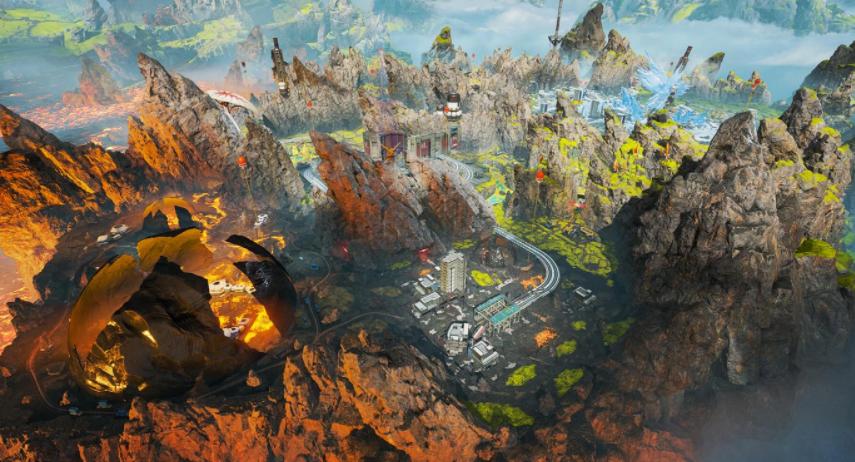 Apex Legends original World's Edge map.