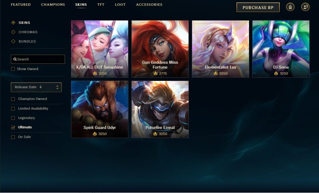 How to Buy Ultimate Skins