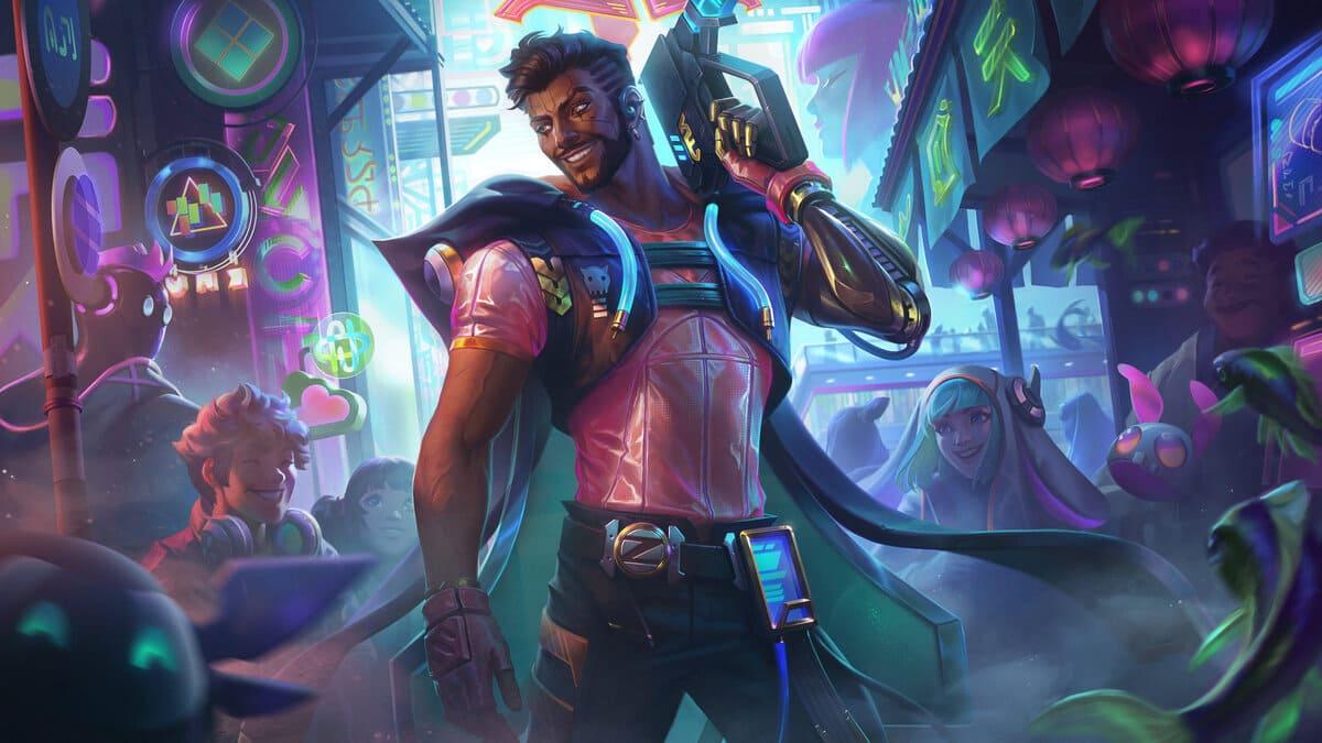 Cyber Pop Akshan Skin: Splash Art, Release Date, and Price   GameRiv