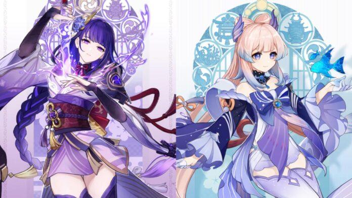 Genshin Impact characters Baal and Sara