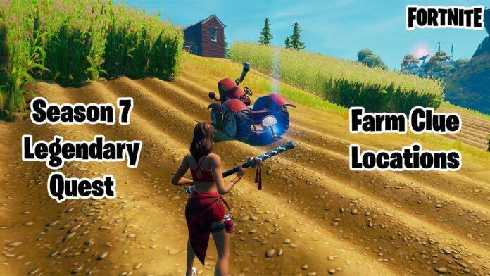 Fortnite Season 7 Week 4 Legendary Quest Farm Clues