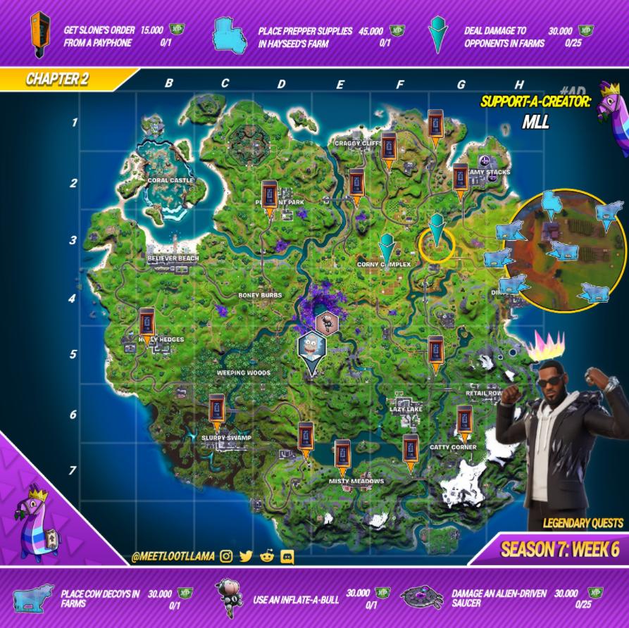 Fortnite Season 7 Week 6 Legenrady Quest Guide