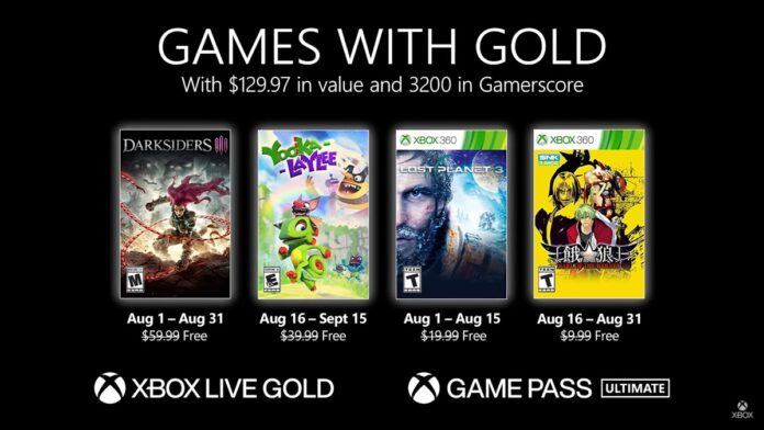 Games Gold August 2021
