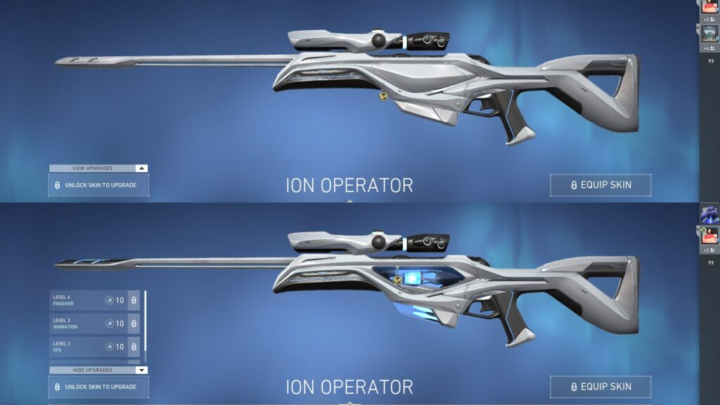 Ion Operator at Level 1 vs Level 4