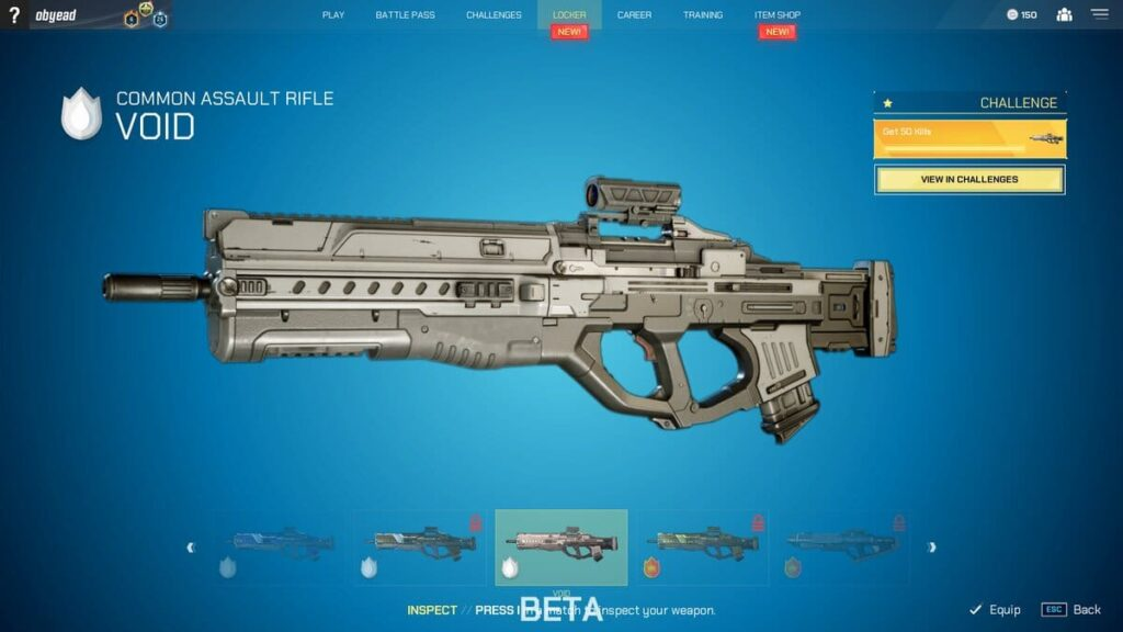 Splitgate Assault Rifle