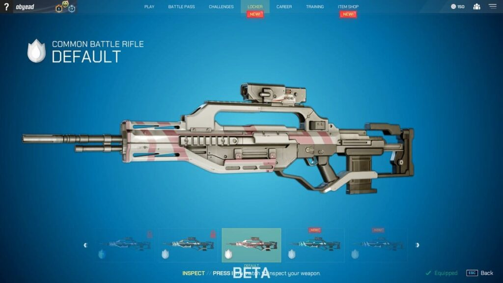 Splitgate Battle Rifle