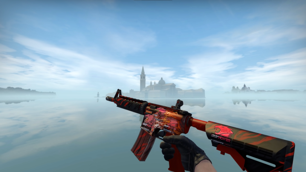 Stattrack M4A4 Howl with 4x ibuypower Katowice 2014 holos