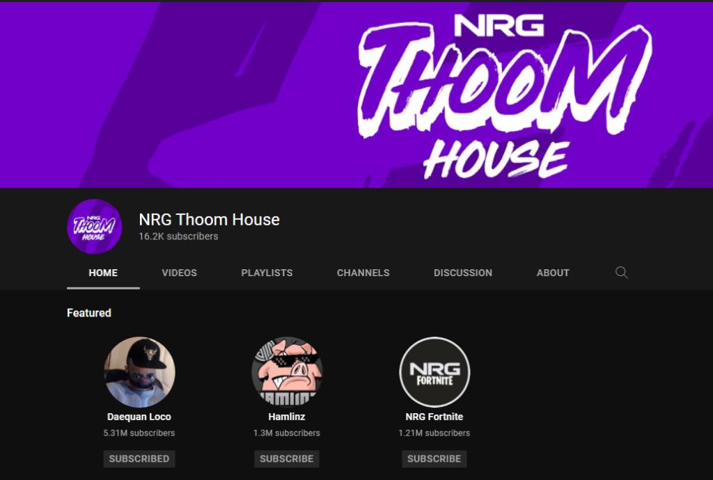 NRG Thoom House YouTube