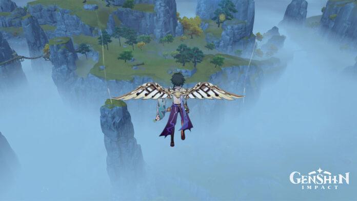 Genshin Impact Anniversary Glider on Xiao