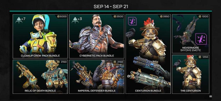 Apex Legends Evolution Collection Event Shop Sep14-Sep21