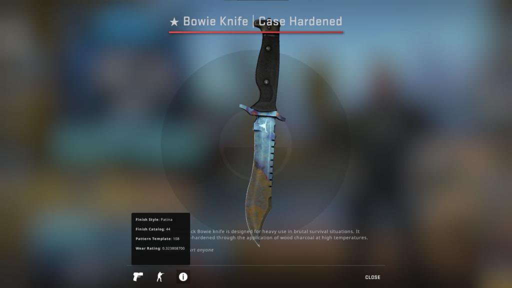 Bowie Knife Case Hardened FT