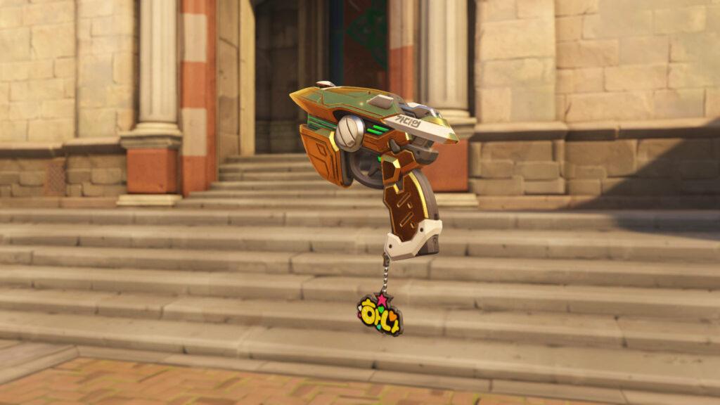 Academy Dva skin with Golden Gun