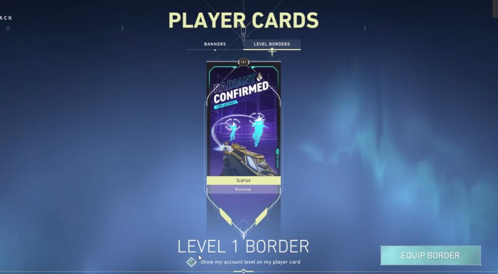 Hide level borders valorant