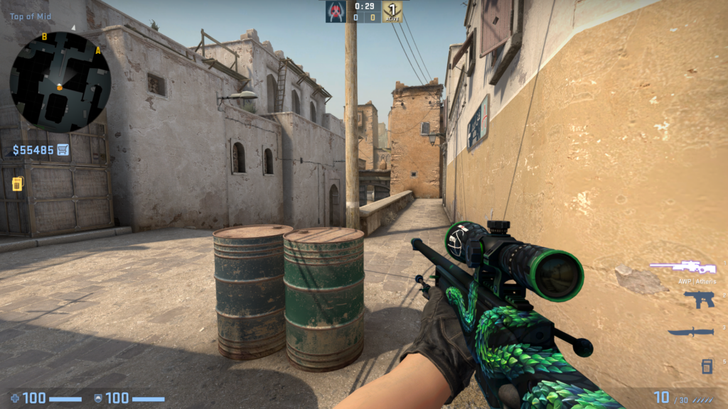 The AWP, the most expensive weapon in the game and also the most lethal